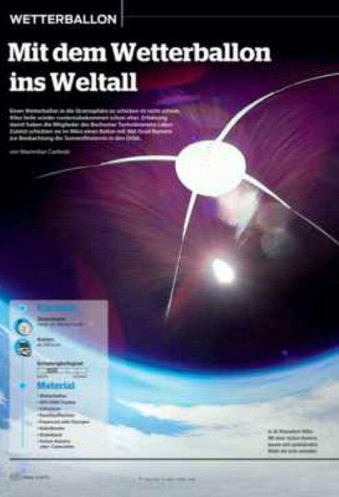 Mit dem Wetterballon ins Weltall – heise c't Hacks / Make 03/2015